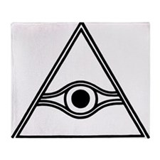eye-of-god-black-white Throw Blanket