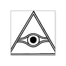 """eye-of-god-black-white Square Sticker 3"""" x 3"""""""