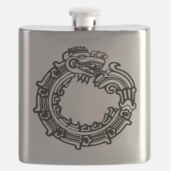 aztec-ouroboros-serpent-circle Flask