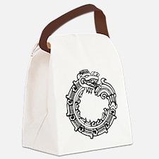 aztec-ouroboros-serpent-circle Canvas Lunch Bag