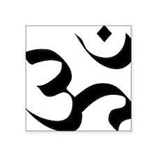 "om-symbol-meditation Square Sticker 3"" x 3"""