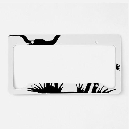 longhorn-silhouette License Plate Holder