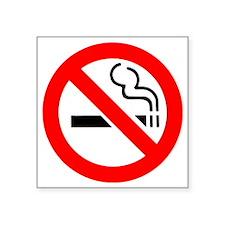 """no-smoking-warning-sign Square Sticker 3"""" x 3"""""""