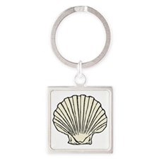 scallop_shell Square Keychain