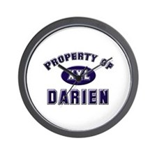 Property of darien Wall Clock