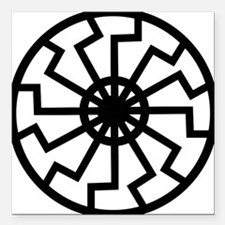 """vril-black-sun-emblem Square Car Magnet 3"""" x 3"""""""