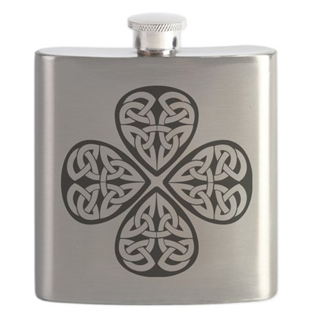 celtic-four-leaf-clover Flask