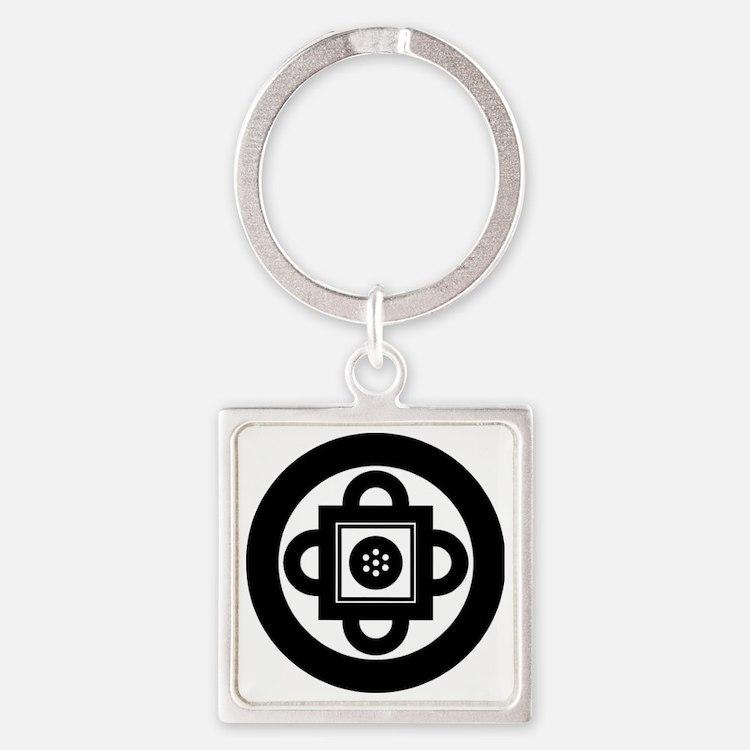shambala-symbol Square Keychain