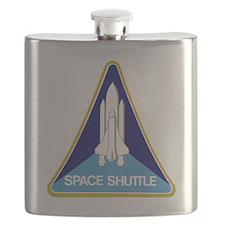 NASA-original-space-shutle-patch Flask