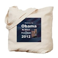 Vets for Obama button Tote Bag