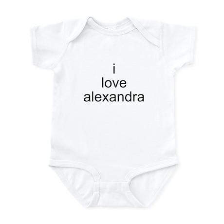 i love alexandra Infant Bodysuit