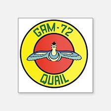 "GAM-72 Quail Decal Square Sticker 3"" x 3"""