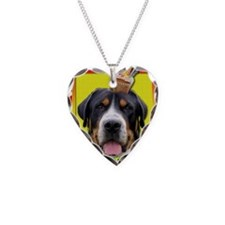 InviteCupcakeSwissMountainDog Necklace