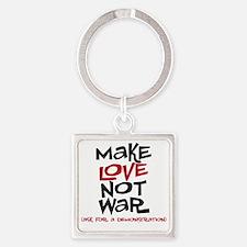 makelove Square Keychain