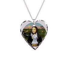 J-ORN-MonaLisa-BullTerrier1 Necklace Heart Charm