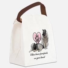 elkie pawprints Canvas Lunch Bag