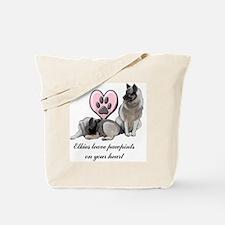elkie pawprints Tote Bag
