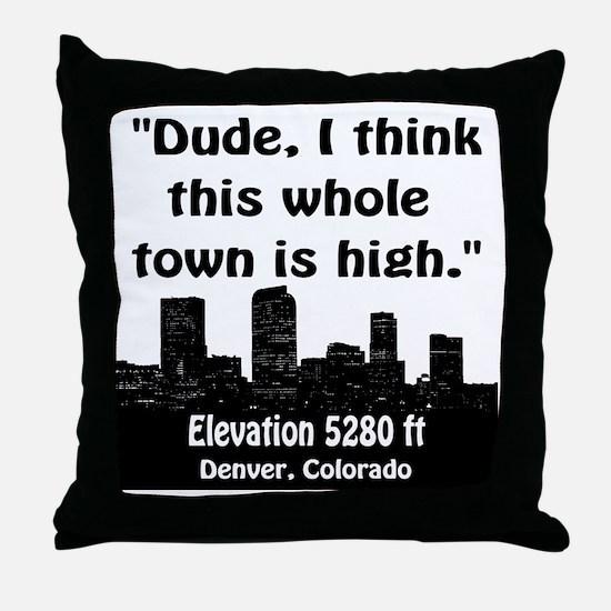 High_Town Throw Pillow