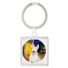 J-ORN-Cafe-Bully4 Square Keychain