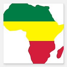 """africa_reggae Square Car Magnet 3"""" x 3"""""""