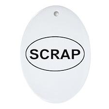 Scrapbooking - Scrap Oval Ornament