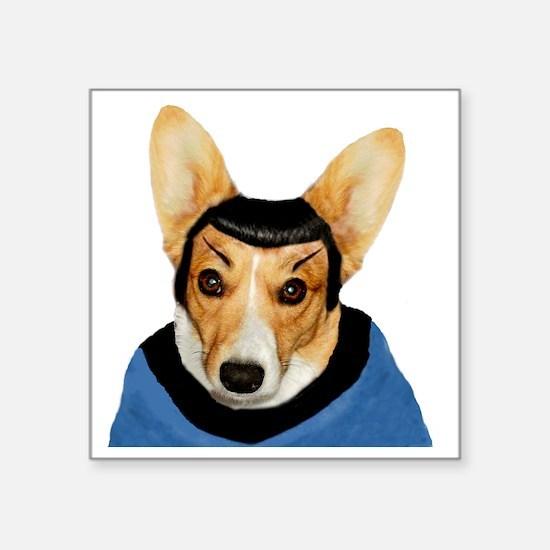"Spock Pip Straight Square Sticker 3"" x 3"""