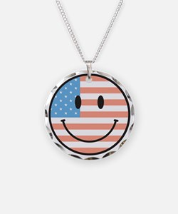 flag smiley Necklace