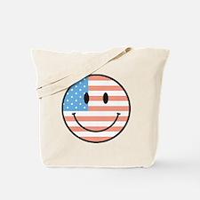 flag smiley Tote Bag