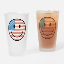 flag smiley Drinking Glass