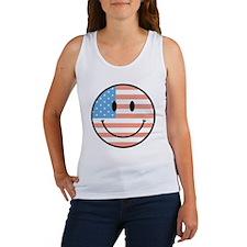 flag smiley Women's Tank Top