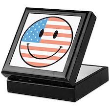 flag smiley Keepsake Box