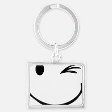 smiley_blink Landscape Keychain