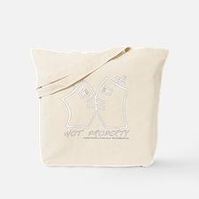 Hot Property White Font Tote Bag