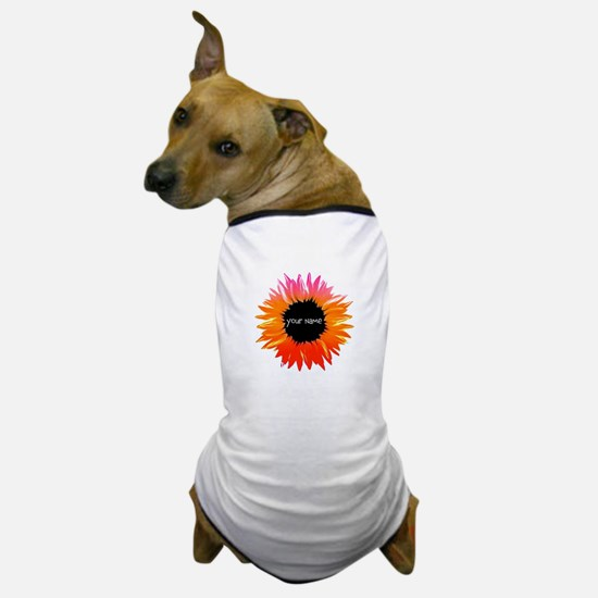 Pink-Orange Flower Dog T-Shirt
