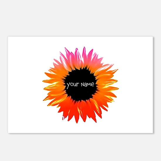 Pink-Orange Flower Postcards (Package of 8)