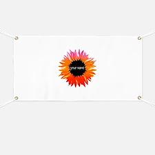 Pink-Orange Flower Banner