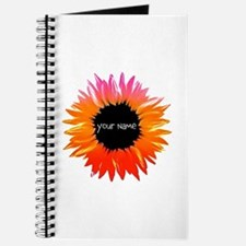 Pink-Orange Flower Journal