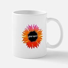 Pink-Orange Flower Mugs