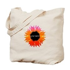 Pink-Orange Flower Tote Bag