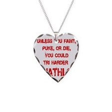 Tri_Harder_puke_rd Necklace