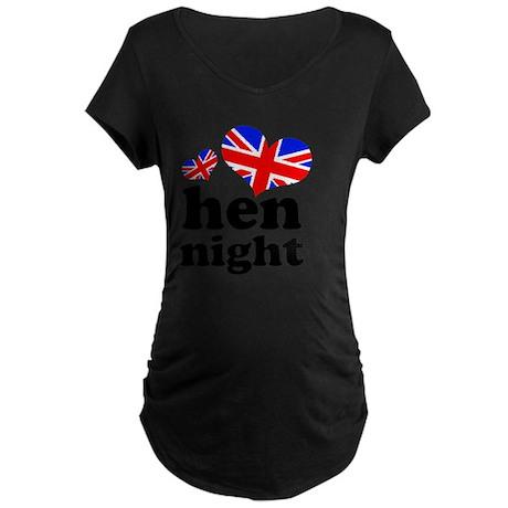 HEN-NIGHT-uj Maternity Dark T-Shirt