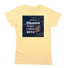 Women for Obama button Girl's Tee