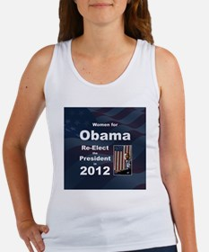 Women for Obama button Women's Tank Top