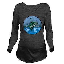 Bass Long Sleeve Maternity T-Shirt