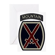 10th Mountain Division ACU Greeting Card