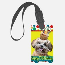 BirthdayCupcakeShihPoo Luggage Tag