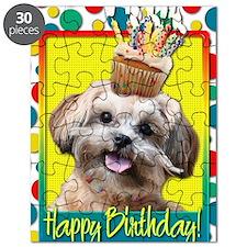 BirthdayCupcakeShihPoo Puzzle