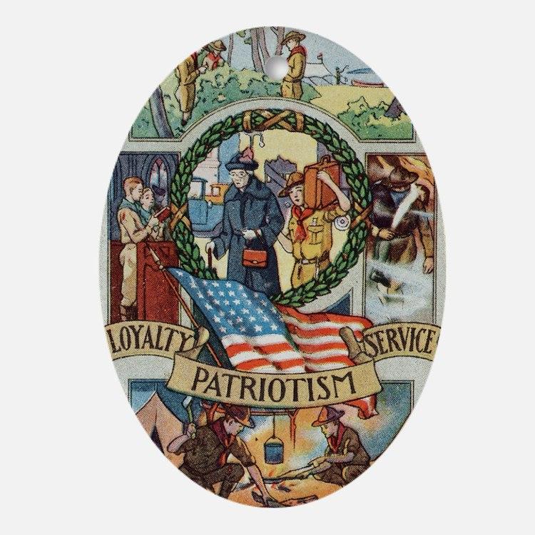Loyalty Patriotism Service 1916 Oval Ornament