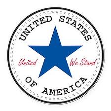 USA Round Car Magnet