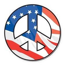 Peace flag Round Car Magnet